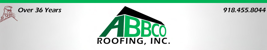 Logo of the roofing company in the Tulsa area.
